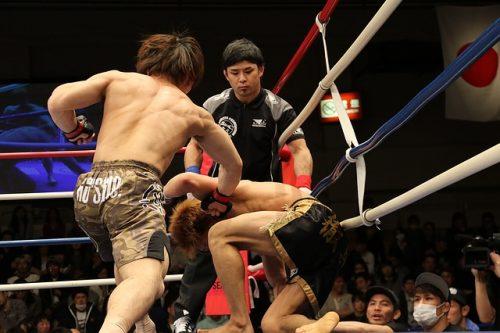 UFC:n ottelu meneillään
